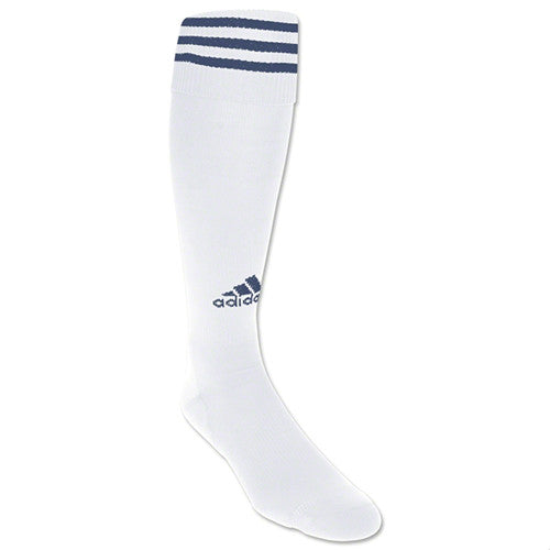 Adidas Soccer Sock Copa White/Navy Stripe MD/Shoe Size 4Y-6