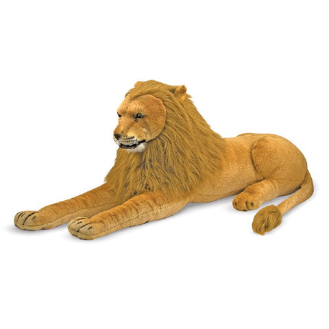 M&D Lifelike Stuffed Lion