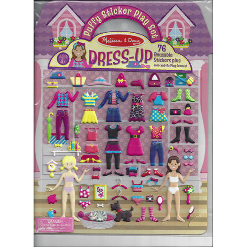 M&D Reusable Puffy Sticker Dress Up