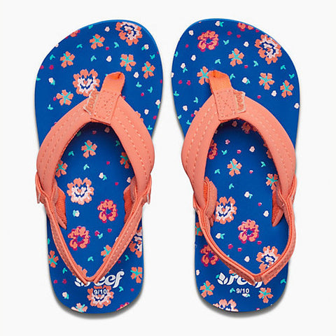 Reef Kids Lil Ahi Blue Floral 4/5 Kids Size