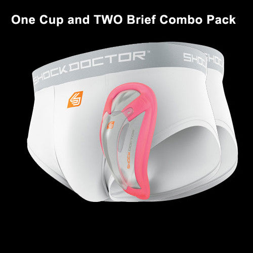 "Shockdoctor Core Cup & 2-Brief Combo Youth Regular 22""-26"""