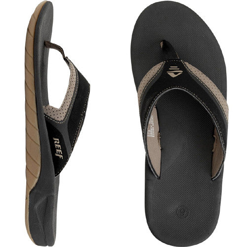 Reef Mens Slap II Sandal Black Tan 13.0