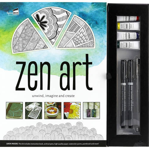 Spicebox Zen Art Adult Coloring Books