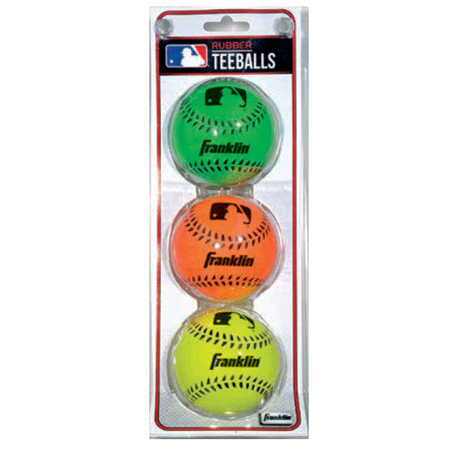 Franklin 3Pk Rubber Colors T-Ball 3Pk