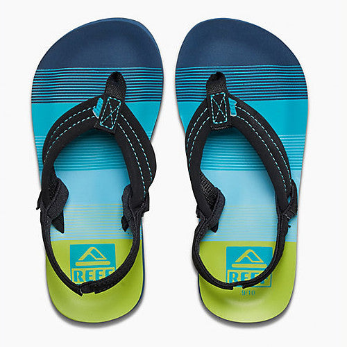 Reef Kids Ahi Sandal Aqua Green 7/8 Below One