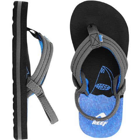 Reef Kids Ahi Sandal Surfer Friends Blue Black 2/3 Kids Size