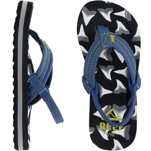 Reef Kids Ahi Sandal Shark 11/12 Below One