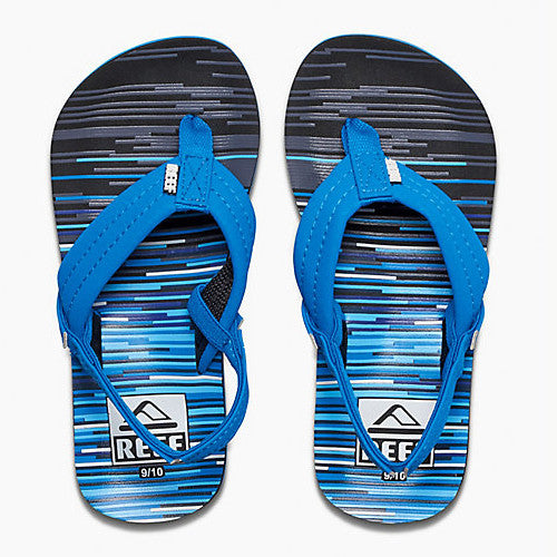 Reef Kids Ahi Sandal Blue Lines 5/6 Below One