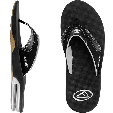 Reef Mens Fanning Sandal Black Carbon 10.0