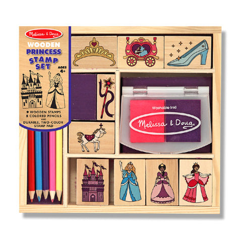 M&D Wooden Princess Stamp Set