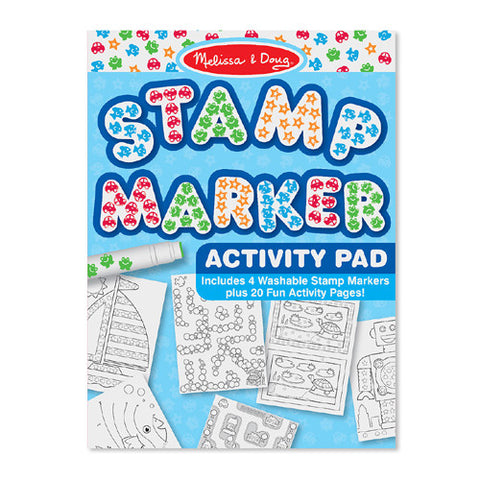 M&D Blue Stamp Activity Pad