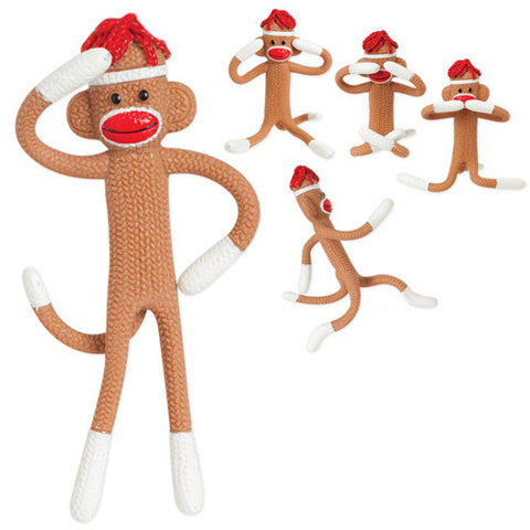 Toysmith Bendy Sock Monkey