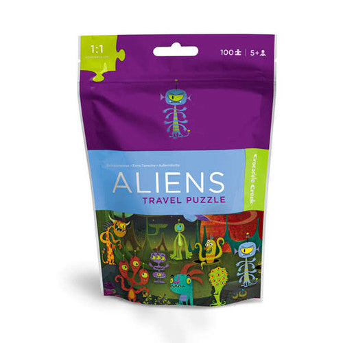 Crocodile Creek Aliens Travel Pouch Puzz