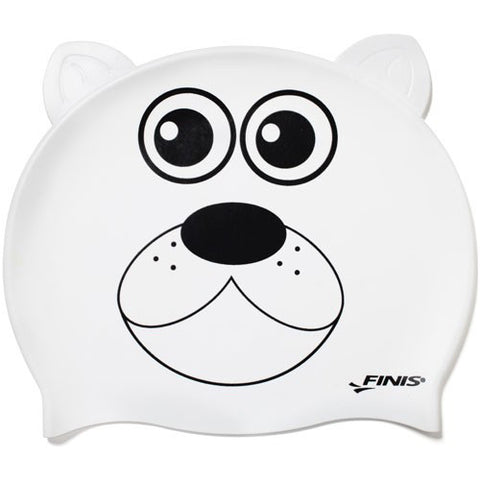 Finis Animal Heads Silicone Caps Polar Bear
