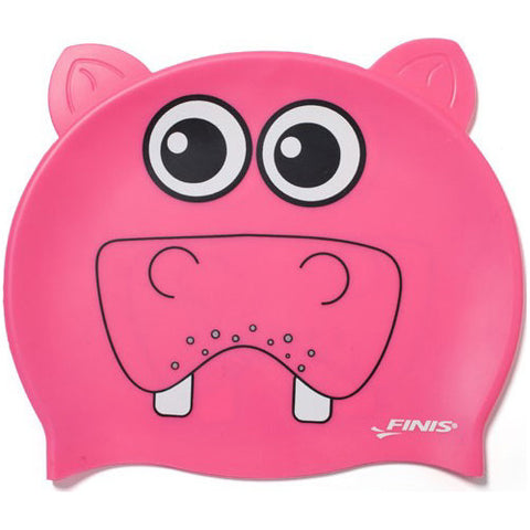 Finis Animal Heads Silicone Caps Hippo