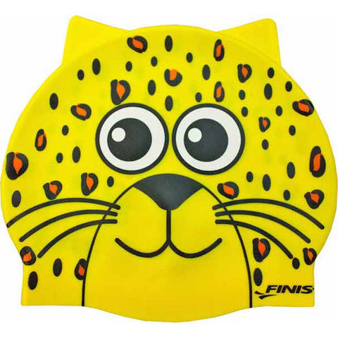 Finis Animal Head Silicone Cap Leopard