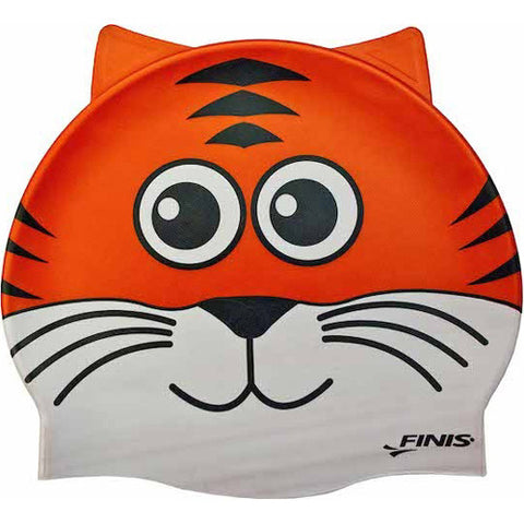 Finis Animal Head Silicone Cap Tiger