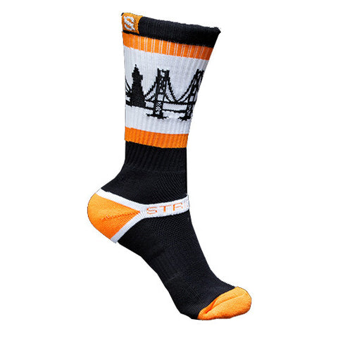 Strideline Socks The Bay Giants Orange Black One Size