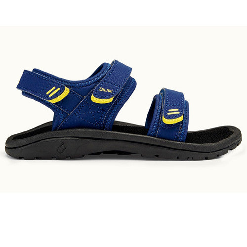 Olukai Boys Pahu H Sunset Blue Black 2/3 Kids Size