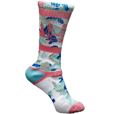 Strideline Socks The Bay Cotton Candy Camo One Size