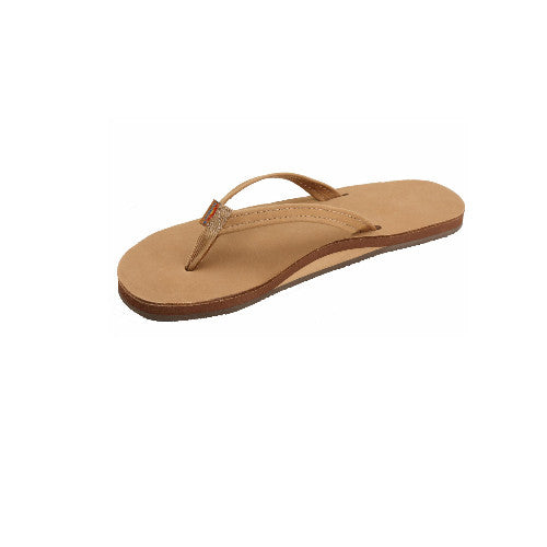 Rainbow Wos Leather Narrow Strap Sandal Sierra Small