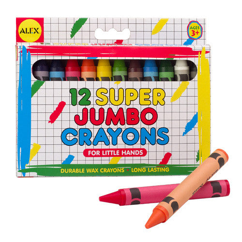 Alex Super Jumbo Crayons 12pc
