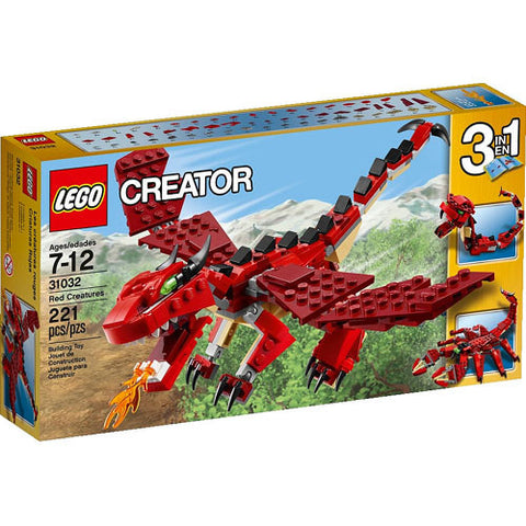 Lego Creator Red Creatures