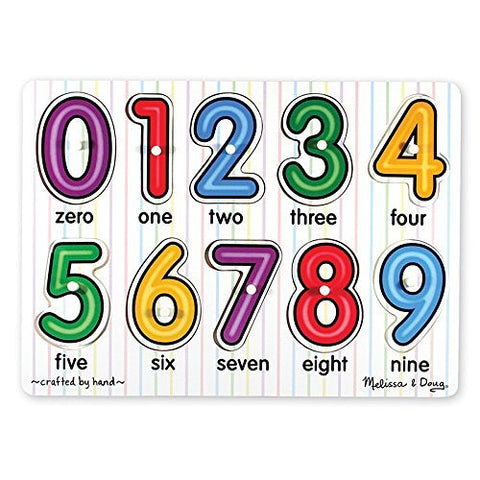 M&D Numbers Peg Puzzle