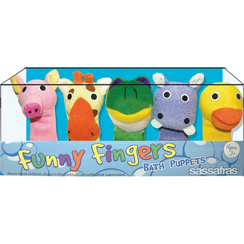 Sassafras Funny Fingers Bath Puppets 1