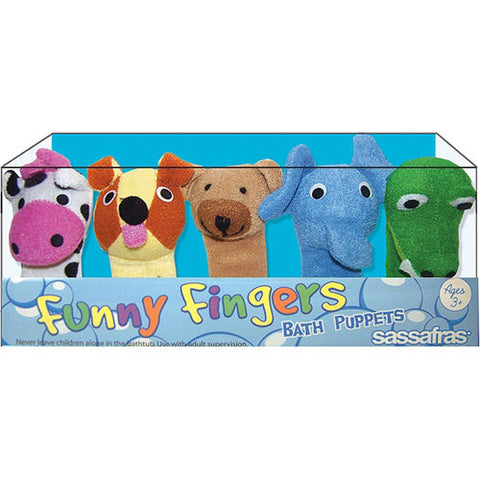 Sassafras Funny Fingers Bath Puppets 2