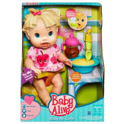 Baby Alive Caucasian Baby All Gone Doll