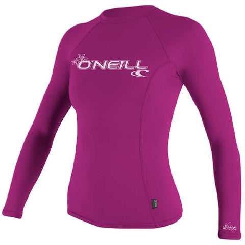 O'Neill Wos Rashie L/S Basic Pink Medium
