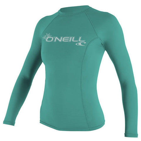 O'Neill Wos Rashie L/S Basic Aqua Medium
