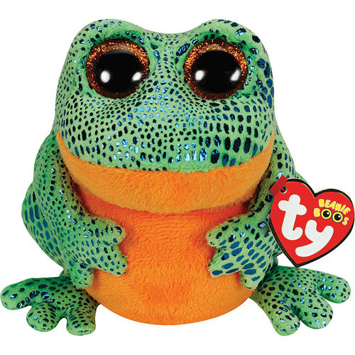 TY Speckles Frog Red Small (Orange/Green