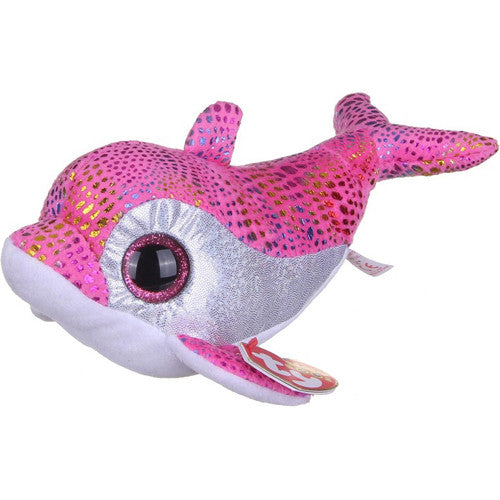 TY Sparkles Pink Dolphin Small
