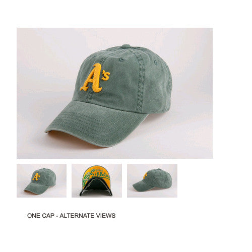 American Needle New Raglin Oakland A's One Size Fits All