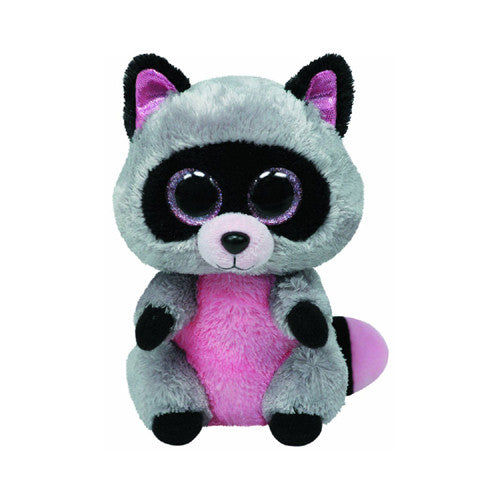 TY Rocco the Grey Raccoon Small
