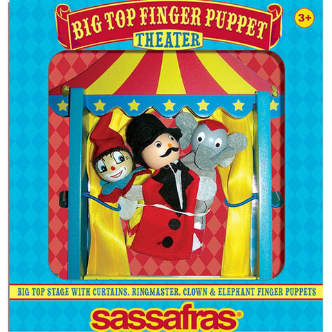 Sassafras Finger Puppet Theater Big Top