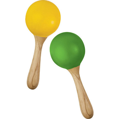 Green Tones Egg Shaker Handle Maracas