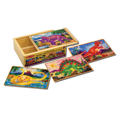 M&D Dinosaurs 4 Puzzles in a Box