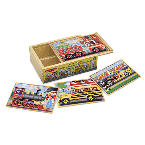 M&D Vehicles 4 Puzzles in a Box