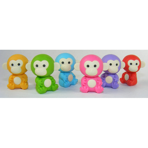 BC USA Colored Monkey Eraser