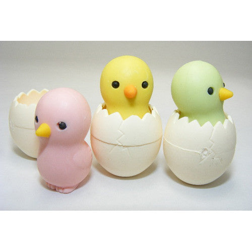 BC USA Baby Chick in Egg Erasers