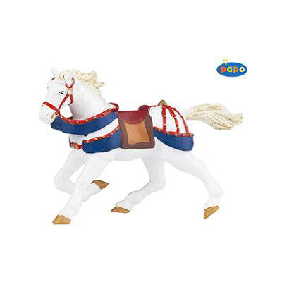 Papo Red & Blue Galloping Horse