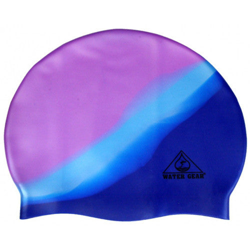 Water Gear Jazz Silicone Cap Blue Pirhana
