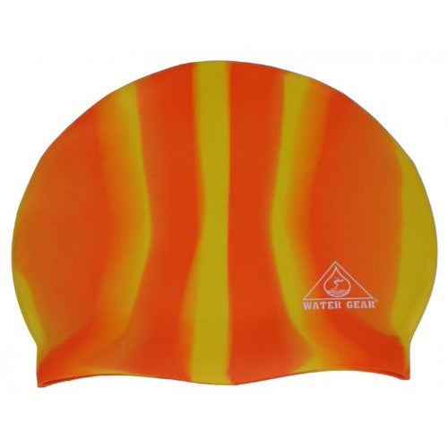 Water Gear Jazz Silicone Cap Orange/Yellow