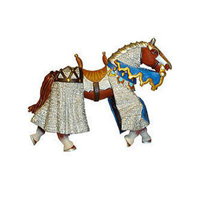 Papo Blue Chain Mail Horse