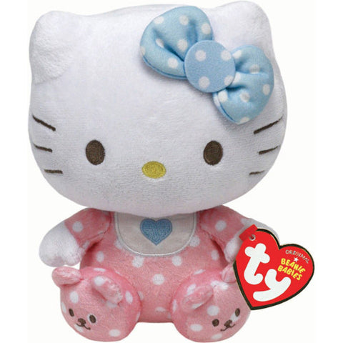 TY Hello Kitty Pink Baby with Rattle