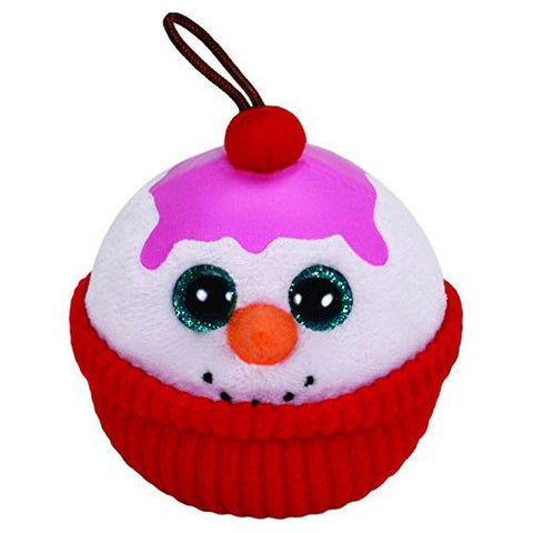 TY Flakes Snowman Ornament