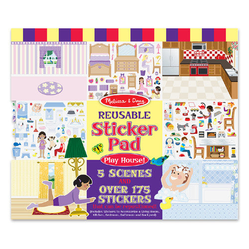 M&D Reusable Play House Stickers